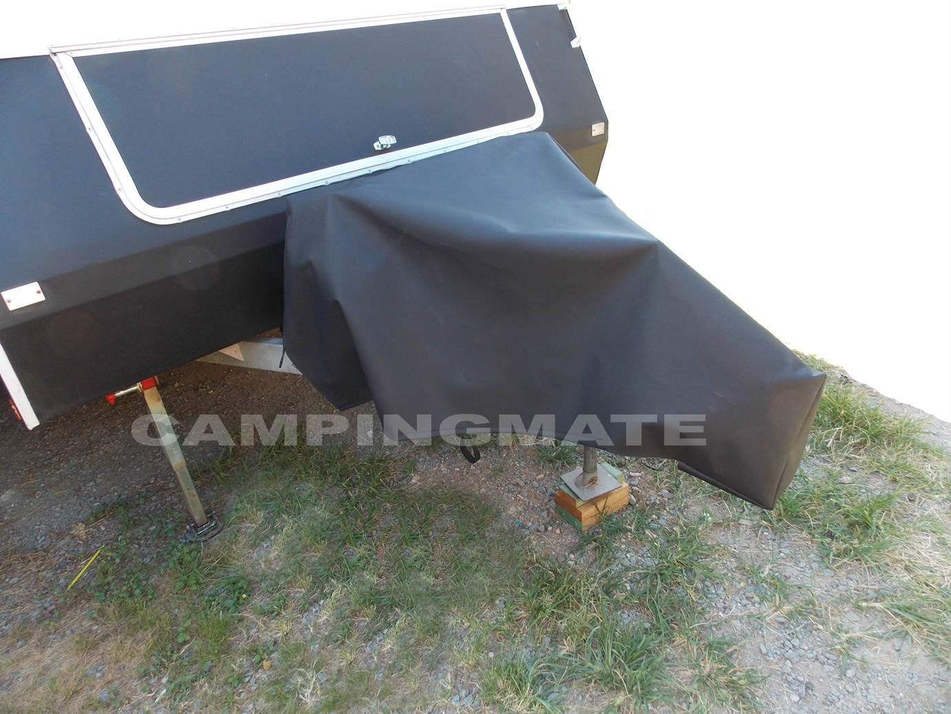Caravan Full Size Drawbar Cover Black 750gsm Camping Mate